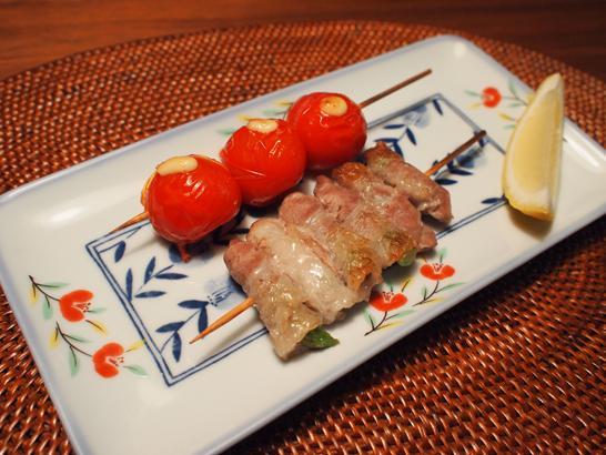 トマト・アスパラガスの豚バラスライス巻き