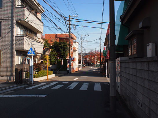 住宅街の道