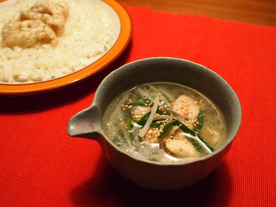 鶏皮のスープ