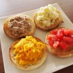イングリッシュマフィン超熟で朝食を!カボチャなど簡単な具で