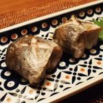 カマスの塩焼き(両褄折り)
