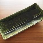 瀬戸焼を観光がてらゲット!これは良い緑色の織部長角皿ですね
