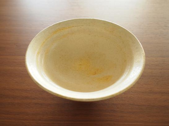 益子焼 粉引リム付浅鉢/鈴木宏美