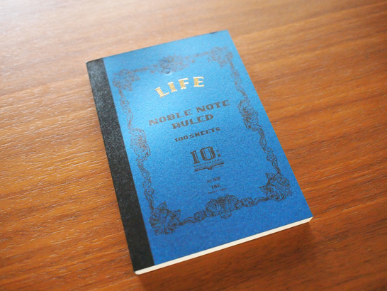 ノーブル10周年記念の限定ノート